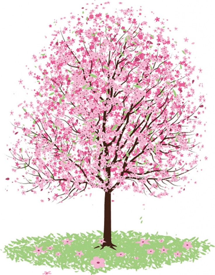 Tree clipart apple blossom #12