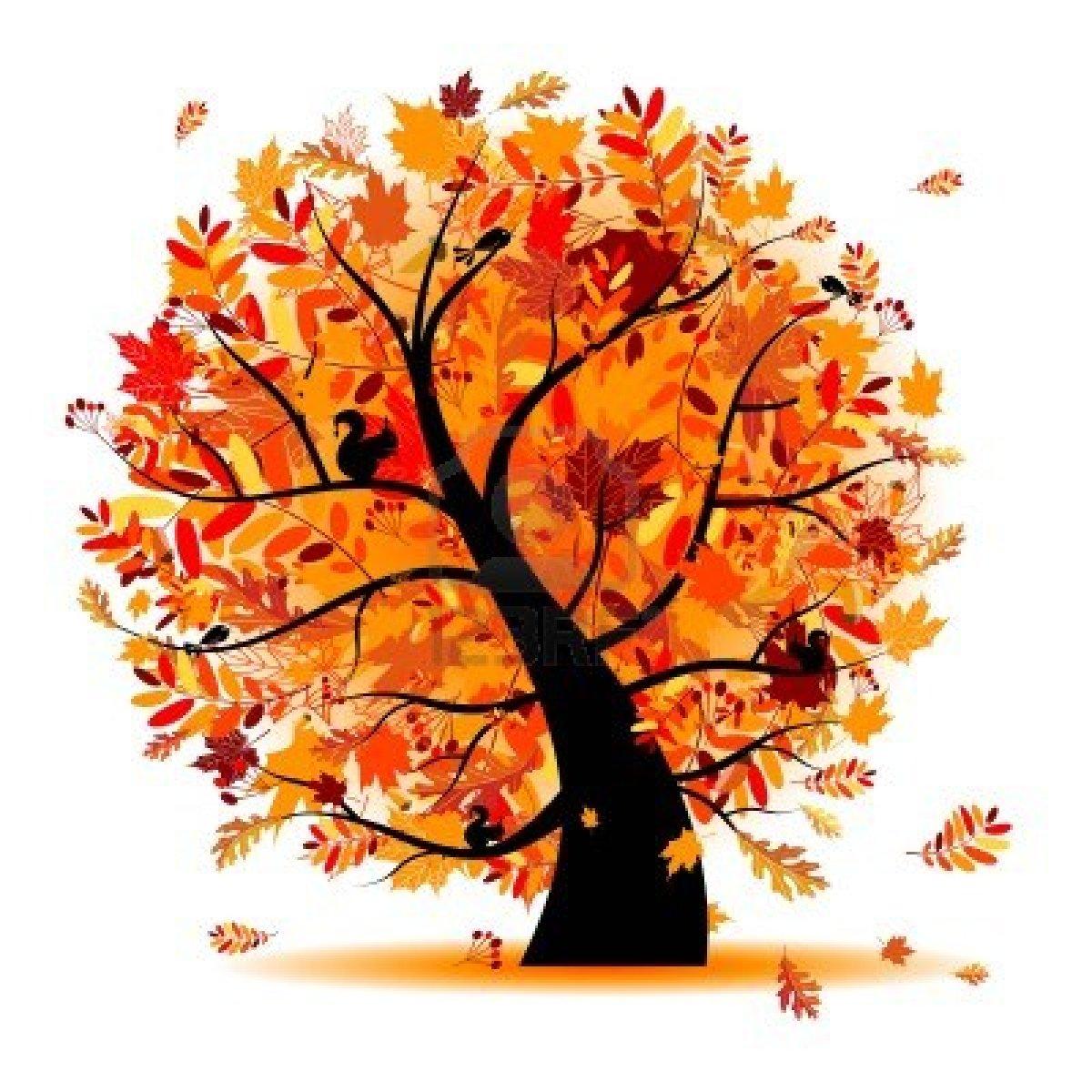 Tree clipart autum #11