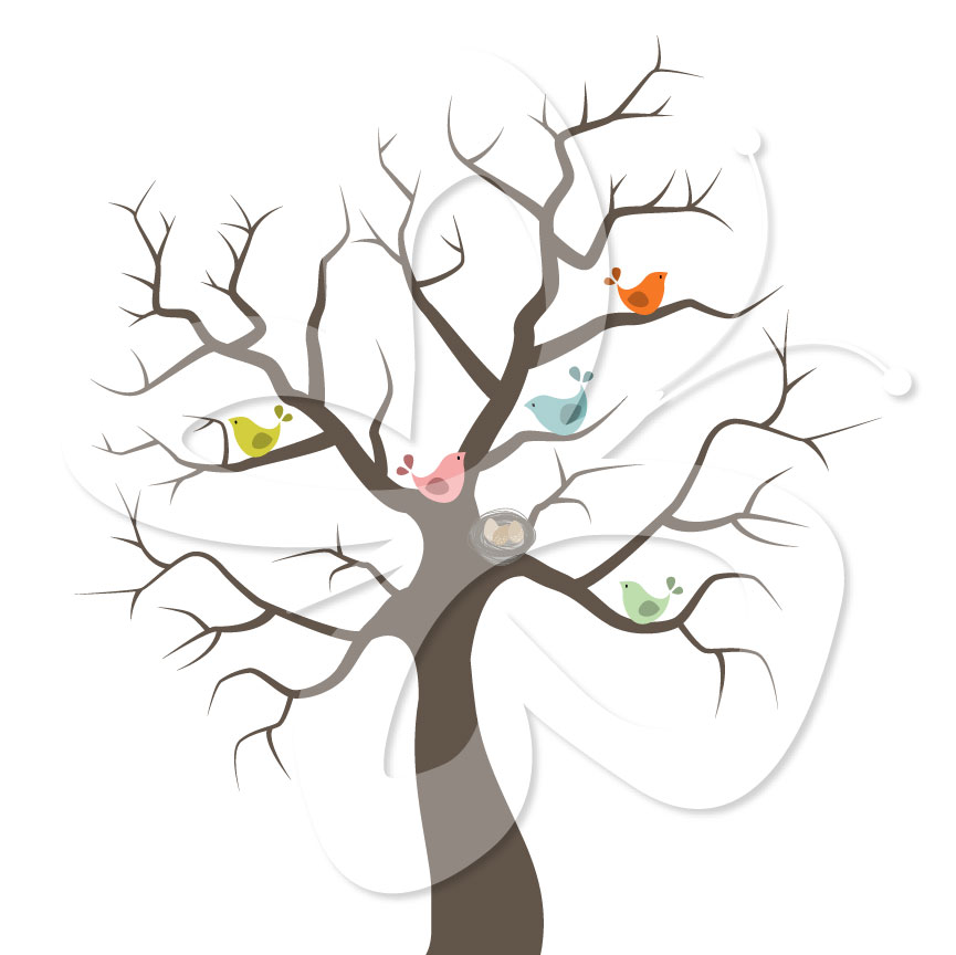 Tree clipart baby shower #14