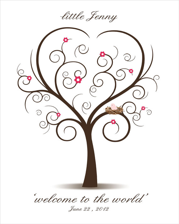 Tree clipart baby shower #6