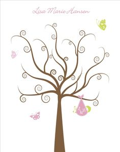 Tree clipart baby shower #10