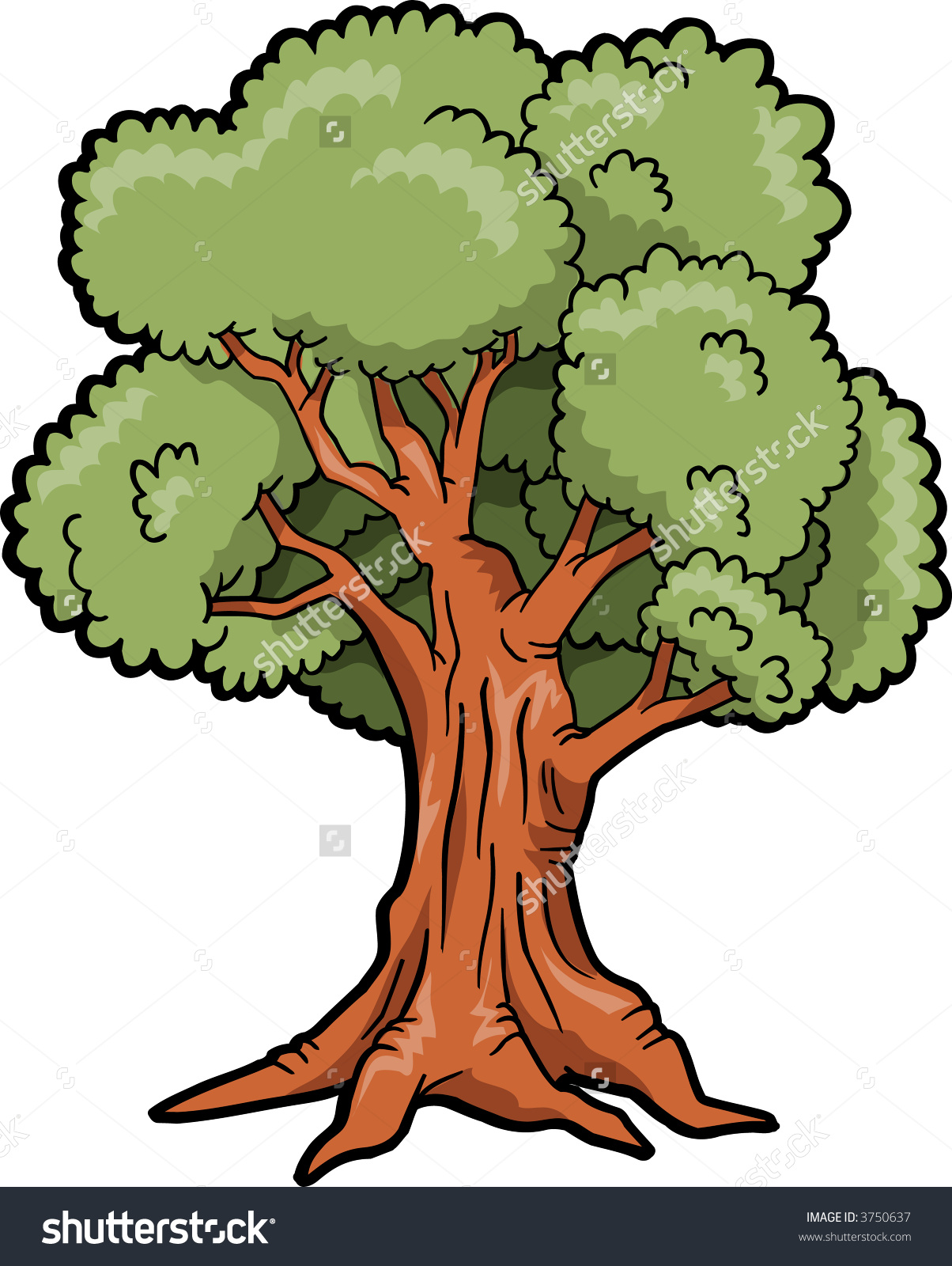 Tree clipart big tree #7
