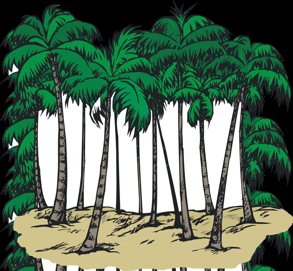 Palm Tree clipart group Clip art tree Tall (70+)