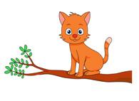Tree clipart cat #9