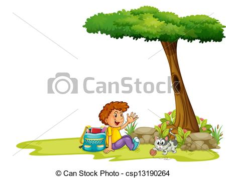 Tree clipart cat #10