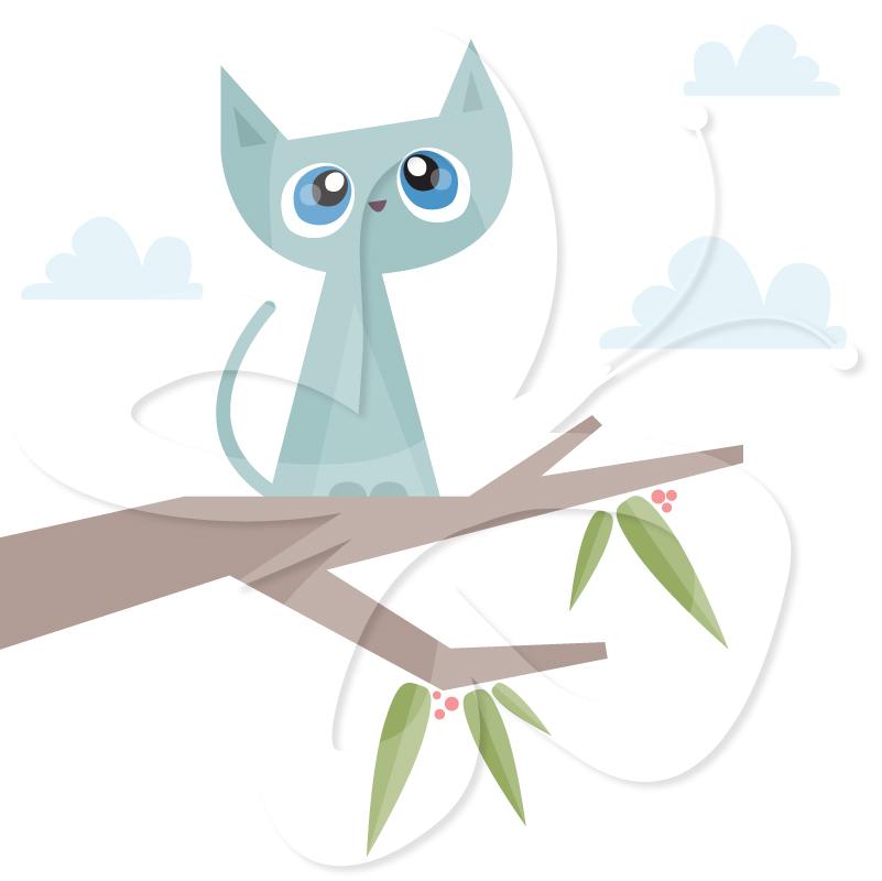 Tree clipart cat #11