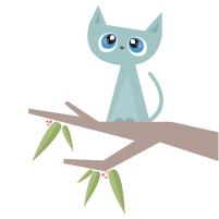 Tree clipart cat #8
