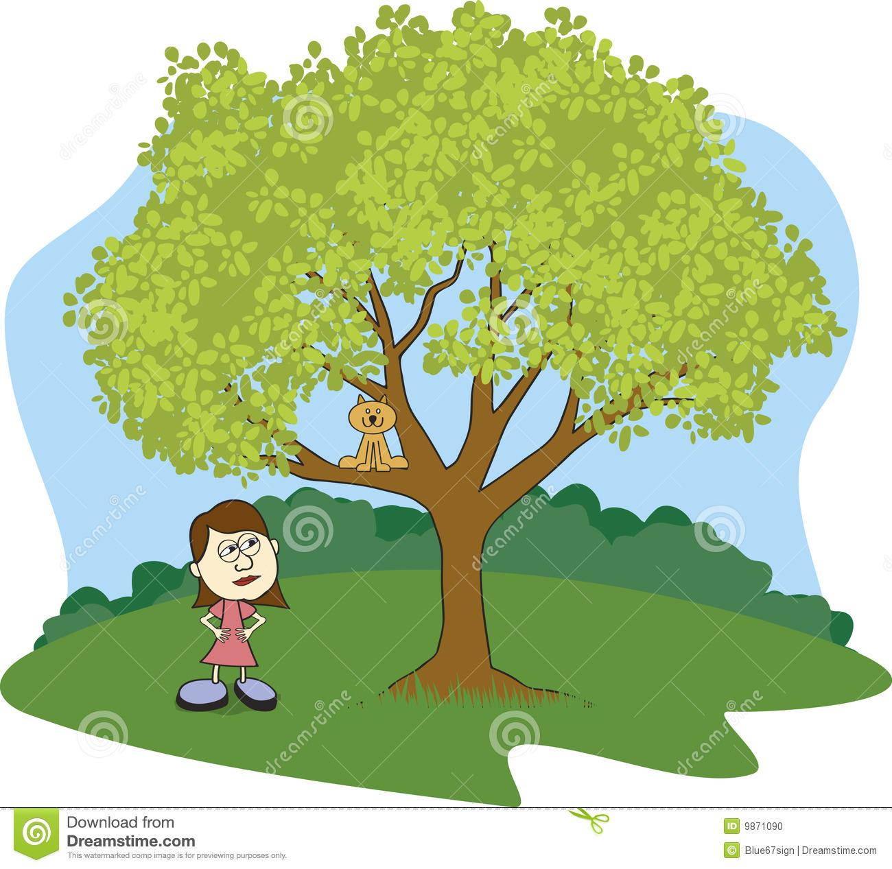 Tree clipart cat #7