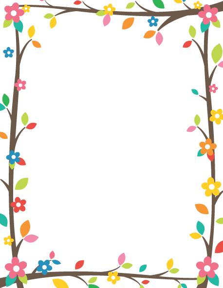 Tree clipart frame #13