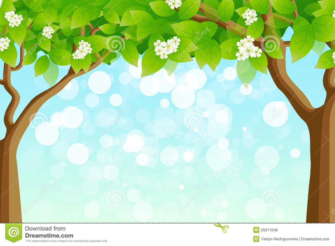 Tree clipart frame #14