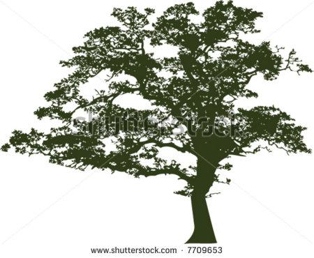 Tree clipart oak tree Tree clipart Oak black Free