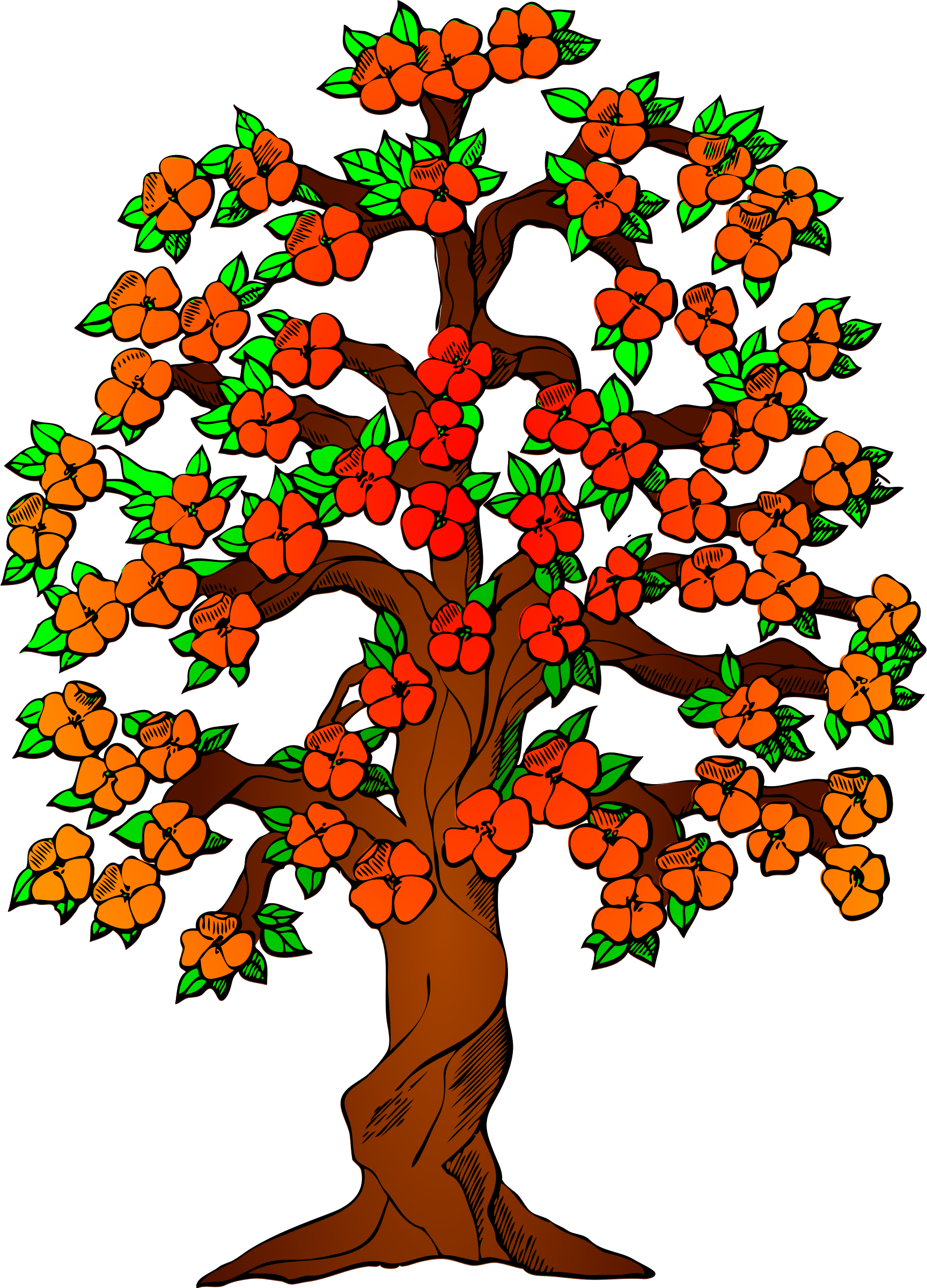 Tree clipart rose apple #4