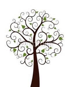 Tree clipart swirly #11