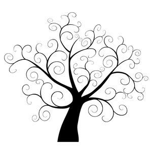 Tree clipart swirly #10