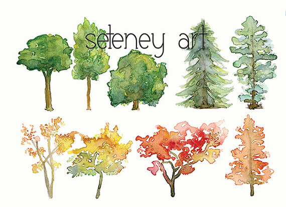 Wood clipart colorful tree Art clipart Tree Clipart Clip