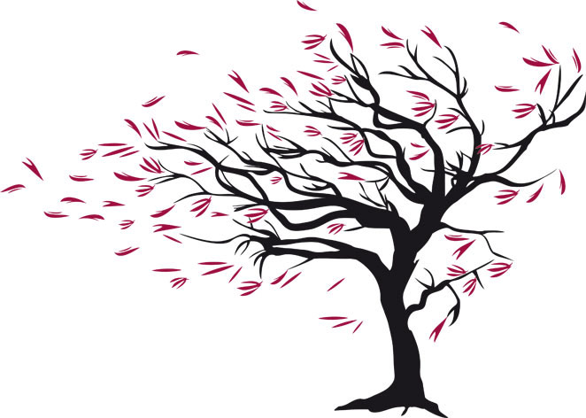 Tree clipart wind blowing #10