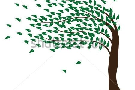 Tree clipart wind blowing #13