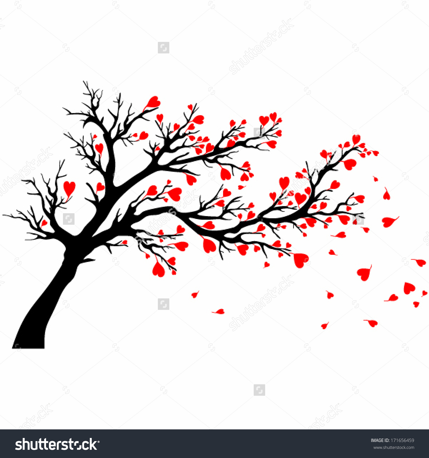Tree clipart wind blowing #11