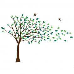 Tree clipart wind blowing #14