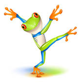 Tree Frog clipart Frog Dancing Royalty Clip Art