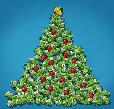 Tree Frog clipart christmas #10