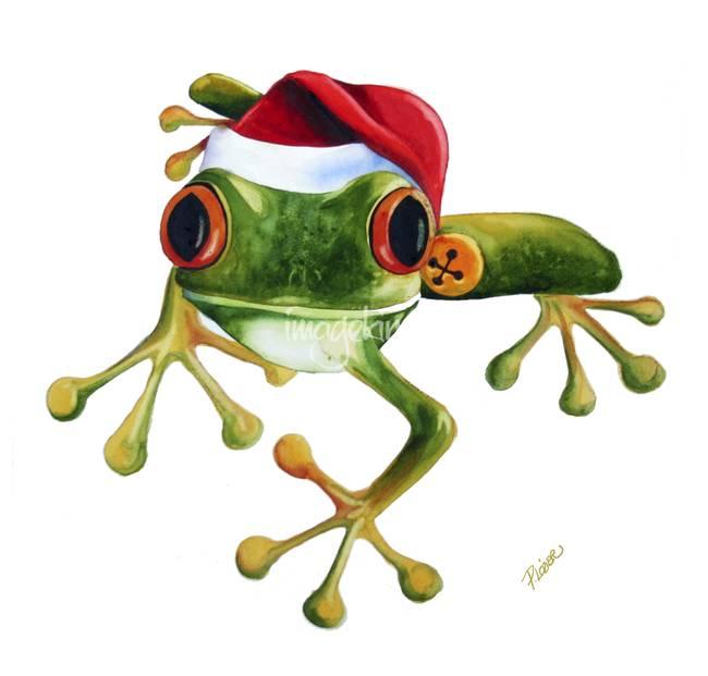 Tree Frog clipart christmas #8