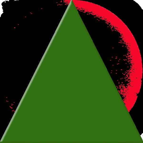 Triangle clipart Green  art Triangle vector