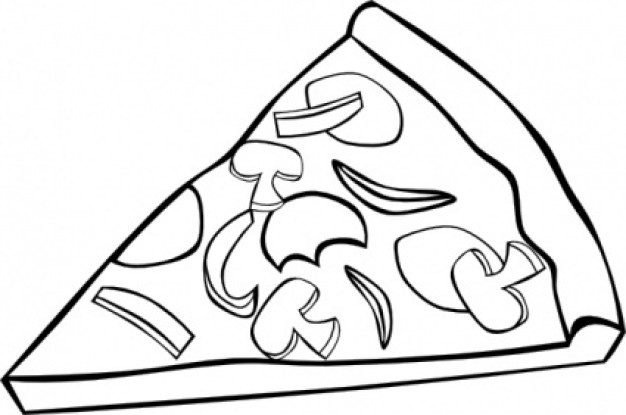Pizza clipart black and white Clipart And Clipart Panda Clipart