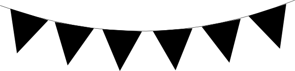 White clipart pennant banner Clipart clip Triangle clipart free