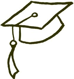 Drawn hat grad #1