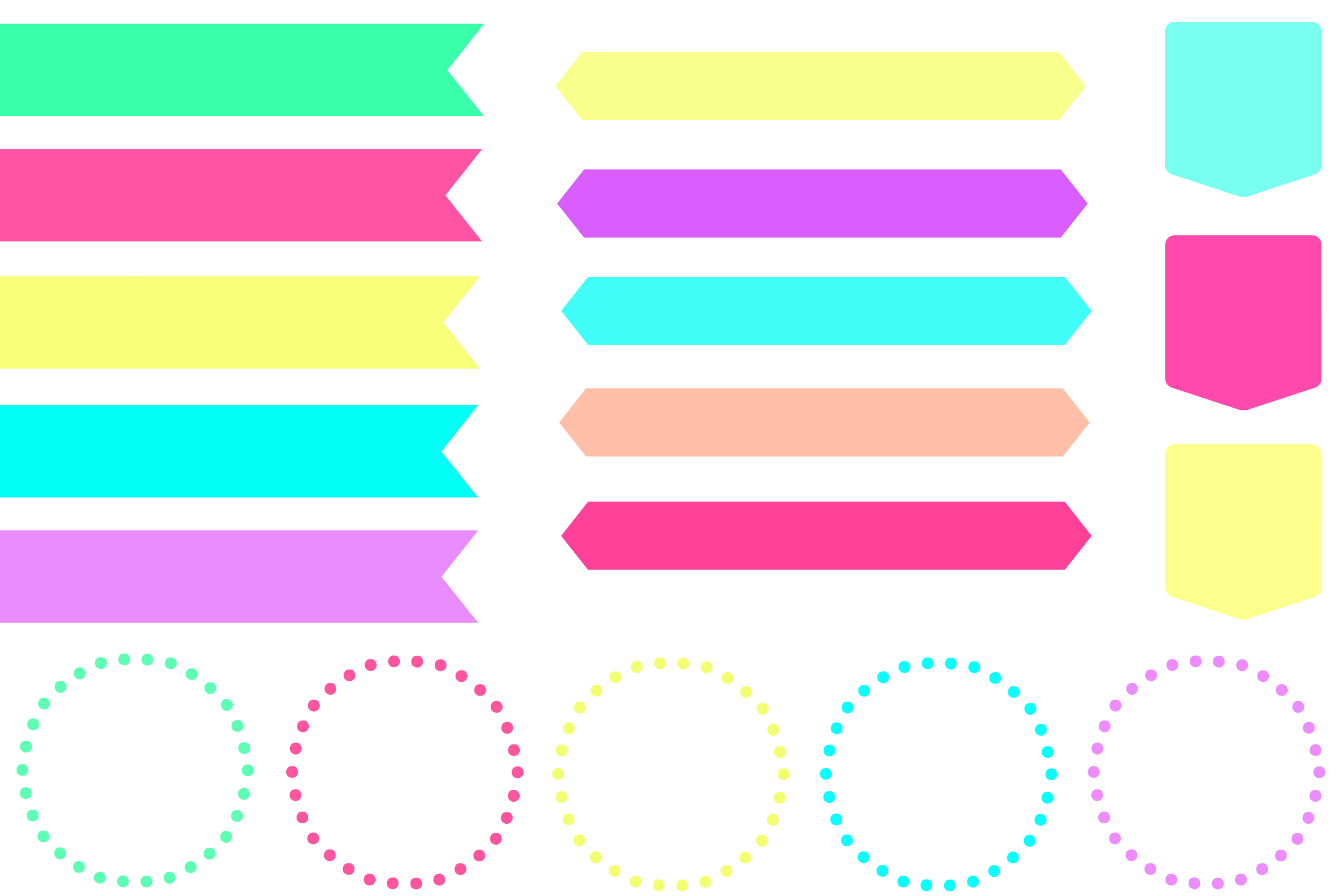Color clipart banner Banner clipart Pink Clipart collection