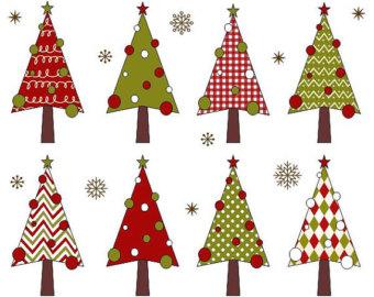 Christmas Tree clipart funky YDC083 Christmas art Clip Christmas