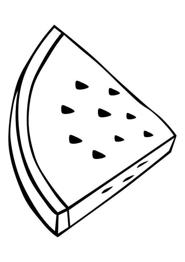 Drawn watermelon black and white Pages Watermelon for Coloring Great