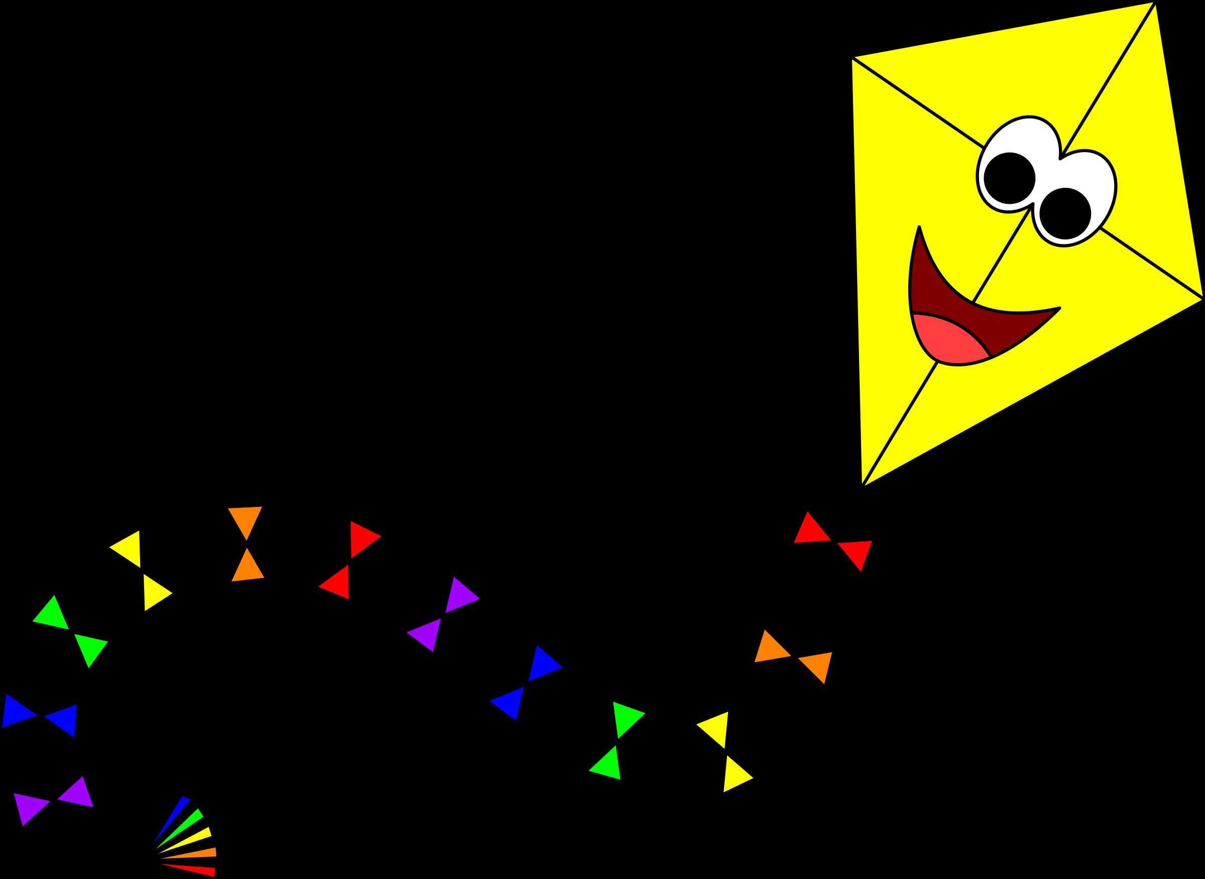 Yellow clipart kite Yellow Yellow kite 2 with