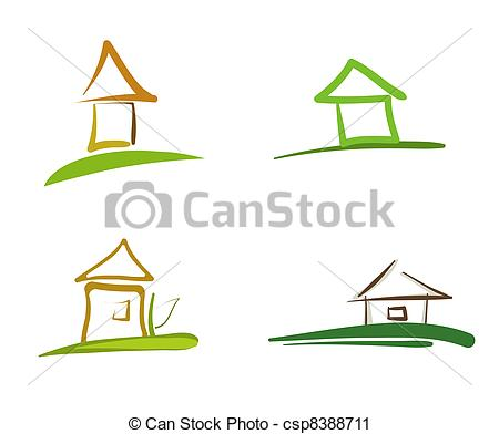 Hosue clipart abstract Of  Art Vector House