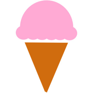 Cone clipart color pink Ice Cream Ice With Transparent
