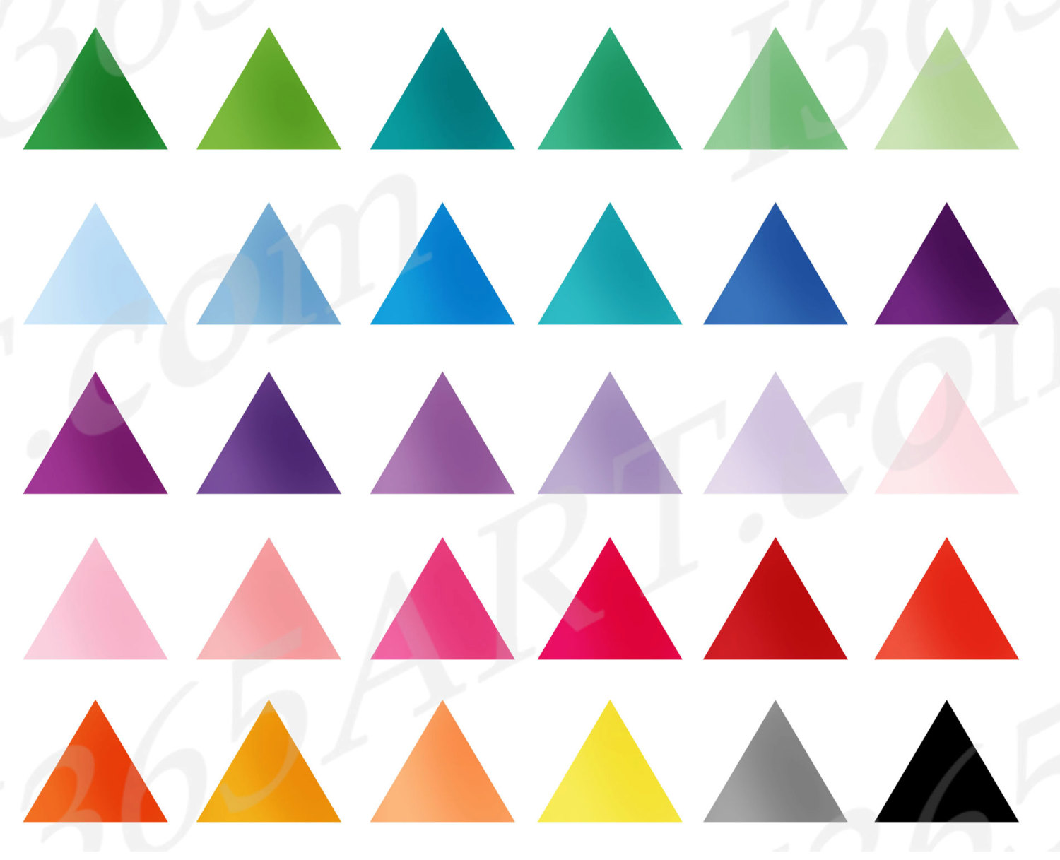 Triangle clipart item Art Clipart Instant Flag Triangle
