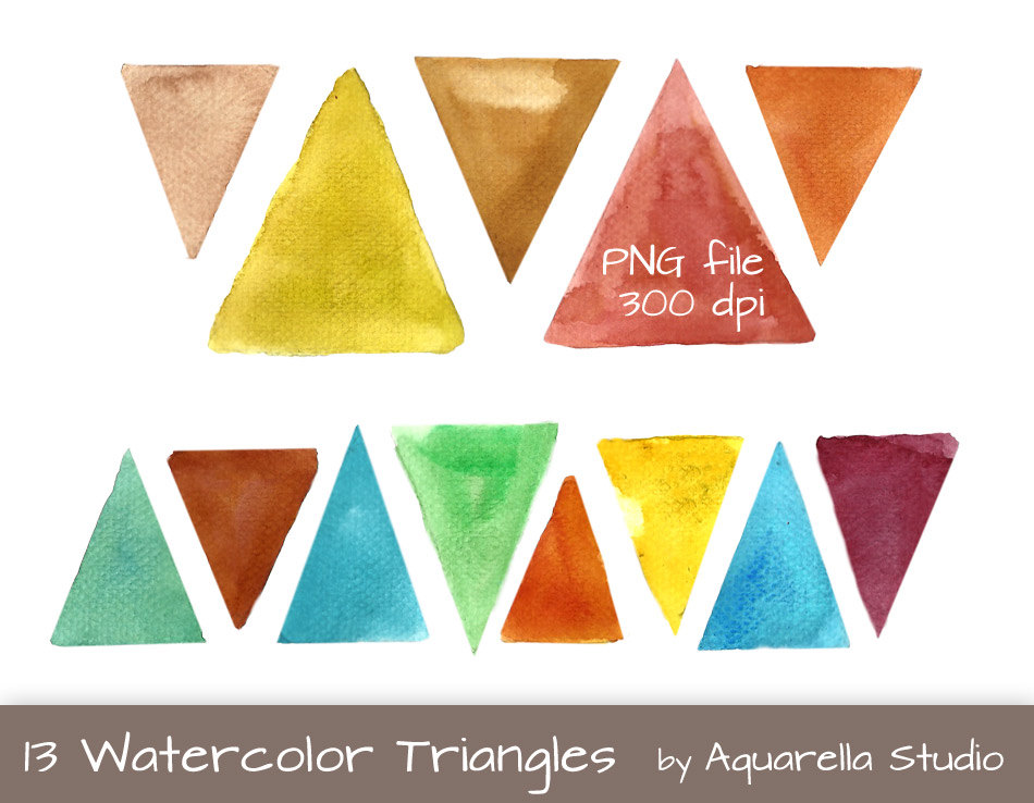 Triangle clipart item Watercolor  triangle clipart Watercolor