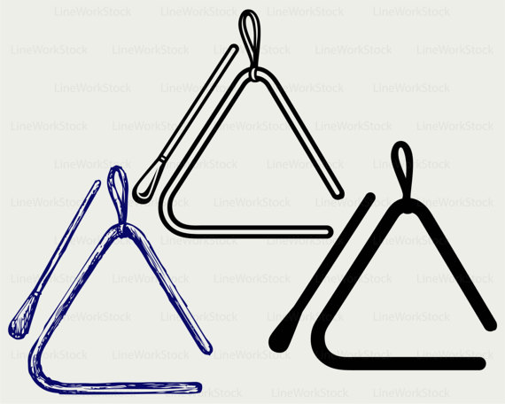Triangle clipart musical Clipart triangle art silhouette musical