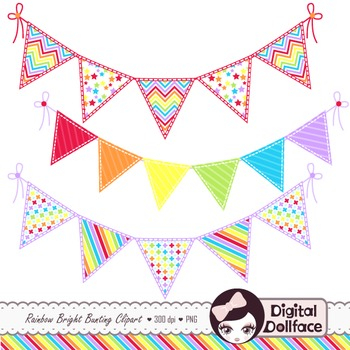 Bunting clipart triangle banner Clipart Clip Rainbow  Art