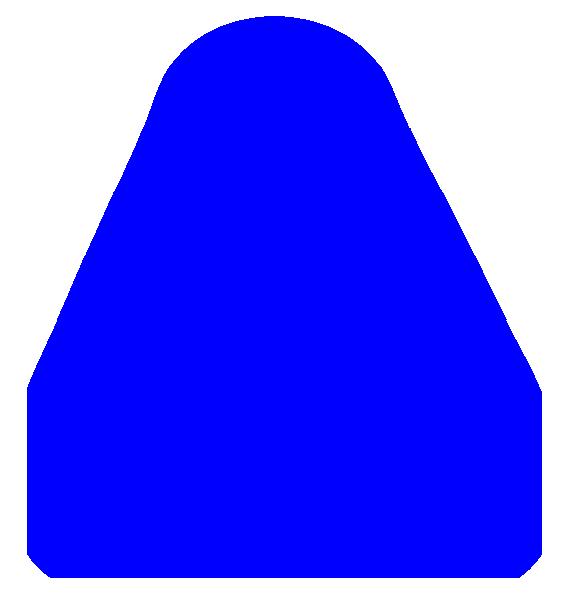 Triangle clipart small  Blue clip art as: