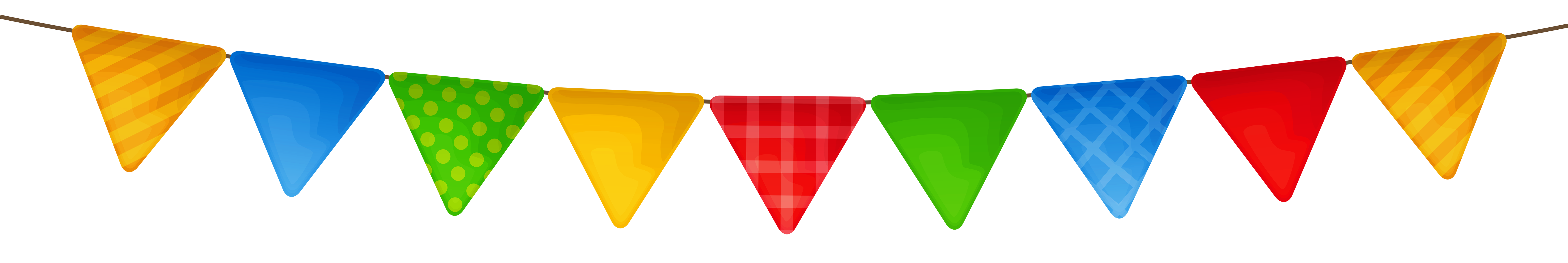 Triangle clipart streamer Streamer PNG size Colorful Gallery