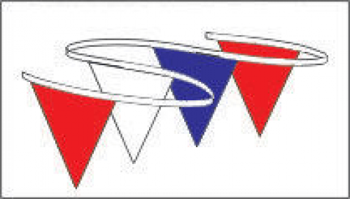 Triangle clipart streamer Streamers Red Blue Eagle Triangle