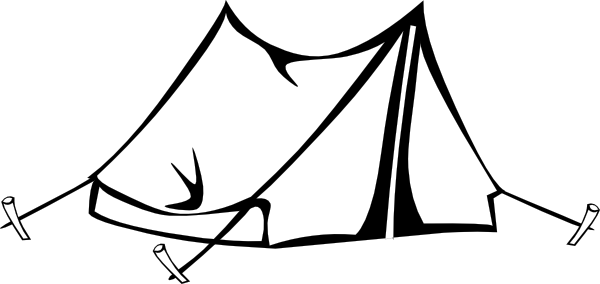 Tent clipart black and white This Black Clker Tent