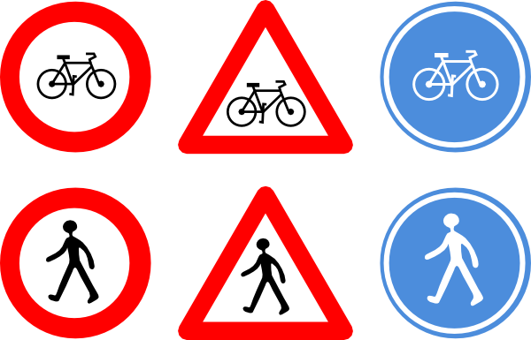 Traffic clipart traffic sign Signs Clker Bicycle as: at