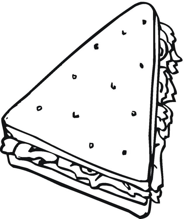 Triangle clipart triangle sandwich Clipart Clipart Images Panda sandwich%20drawing