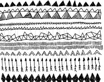 Drawn arrow overlays Overlays digital borders tribal borders