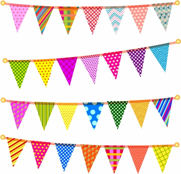 Bunting clipart triangle banner  505 vector) Free for