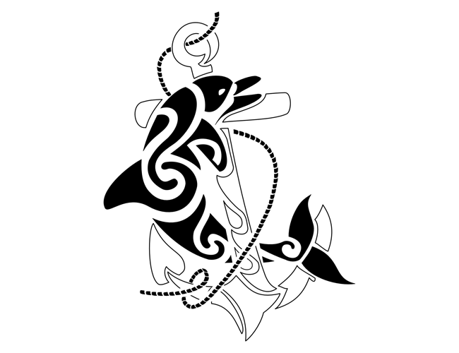 Tribal clipart element Tribal Dolphin Tattoo Tattoo &