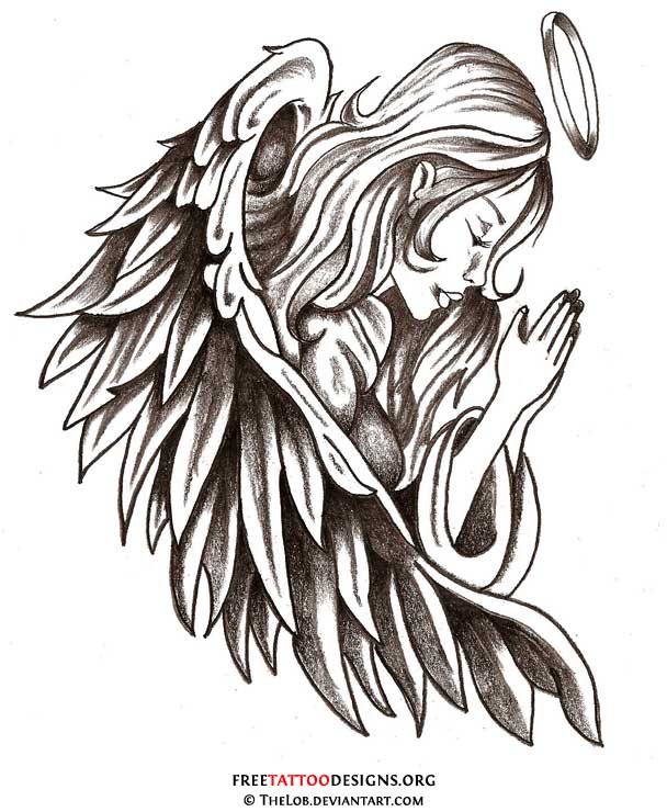 Tribal clipart angel Guardian Angel Male Tattoos collection